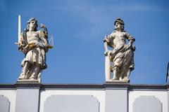 City hall europe european judiciary state sword Stock Photos