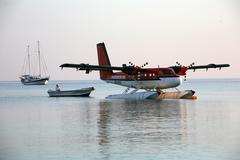 Airplane asia flieger means transport waterplane Stock Photos