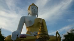 Stock Video Footage of Timelapse Big Buddha Statue with sky