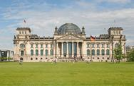 Stock Photo of house lower german parliament meadow politics