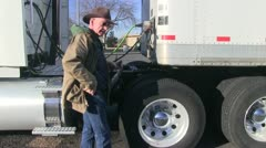 Truck driver, long haul, air line Stock Footage