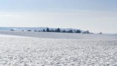Hohenlohe at winter time Stock Photos