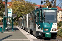 Technology line platform stop tram geometry Stock Photos