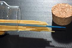 food eat pasta pleasure spaghetti al dente - stock photo