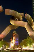 Belief cab monument night exposure sculpture Stock Photos