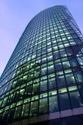 office federal railway glass fassade building - stock photo