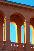 Balustrade citadel column corridor good shadow Stock Photos