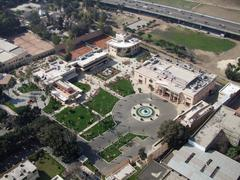 Gezira aerial view in sunny ambiance Stock Photos