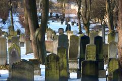 winter bury cemetery cold dead old russian death - stock photo