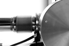 Stock Photo of detail experiment metal research tube assay fact