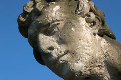 Art artwork barroque broken defect head old Stock Photos