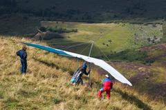 Couple sport dragon glide leisure time tandem Stock Photos