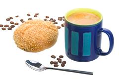 Food coffee bean cup spoon can beakers chalice Stock Photos