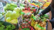 Stock Video Footage of Women Buying Fresh Vegetables