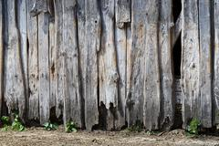 Broken decayed defect desolate ruin wall wooden Stock Photos