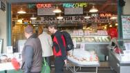 Stock Video Footage of Pikes Place Seafood Market Seattle
