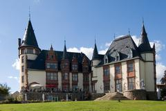 Citadel hotel meadow tower klink abode building Stock Photos