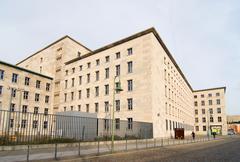 berlin wall berliner mauer ministry window block - stock photo