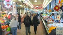 Interior Pikes Place Market Seattle Stock Footage