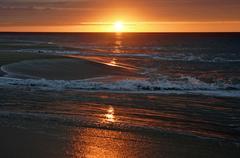 beach art air bay beam beautiful brilliance dawn - stock photo