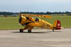 Stock Photo of air show biplane propeller cker 133c aircraft