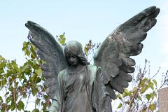 angel belief cemetery in hernals church religion - stock photo