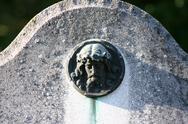 Icon ornament belief bronze cemetery christ path Stock Photos