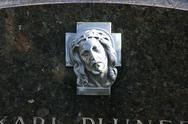 Icon ornament belief cemetery christ church path Stock Photos