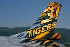 Sport air show attack aviation machine f16 jet Stock Photos