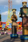 Amusement park courage danger figure joy luck Stock Photos