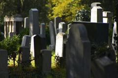 burial cemetery central dead death die eternity - stock photo