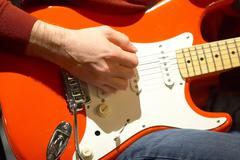 Music school art band creativity guitar style Stock Photos