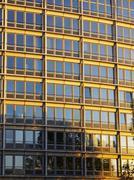 house office facade glass fassade front modern - stock photo