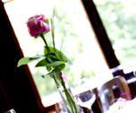 Decoration flower romance romantic wedding table Stock Photos