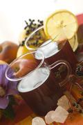 Food fruit apple berry drink tea green health Stock Photos