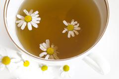Food camomile drink health herb tea yellow Stock Photos
