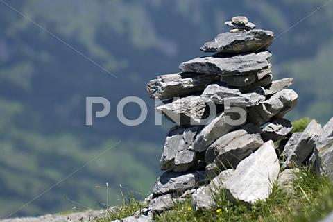 Stock photo of summer alps glacier grey monk peak tourism virgo