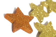 Christmas red symbol stars glinting glistening Stock Photos