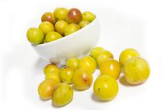 Food fruit boil down bowl chinaware harvest many Stock Photos