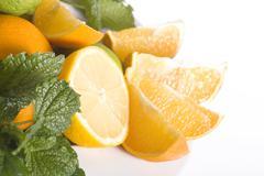 Food fruit citrus green health lime orange Stock Photos