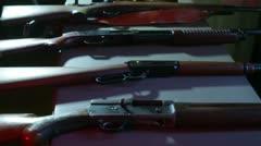 Gun show guns Stock Footage