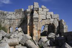 Arab asia basilica belief byzantine city view Stock Photos