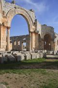 arab asia basilica belief byzantine city view - stock photo
