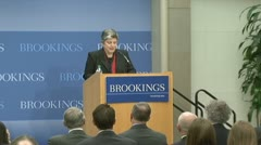 Former Janet Napolitano, Secretary of Homeland Security - stock footage