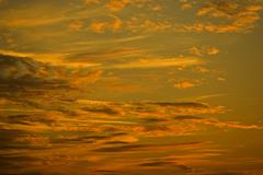 cloud mood sunset clouds sky sunny cloudy airy - stock photo
