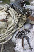 Stock Photo of sport carabiner knot nostalgia rope carbine