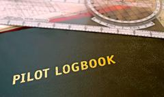 Aviator logbook Stock Photos