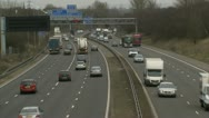 Stock Video Footage of UK traffic / cars / road - Traffic011