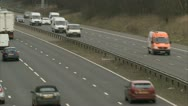 Stock Video Footage of UK traffic / cars / road - Traffic020