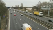 Stock Video Footage of UK traffic / cars / road - Traffic022